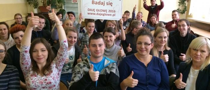 Prelekcja o profilaktyce raka jąder dla uczniów szkoły Cosinus /oddział ul.Paulińska/