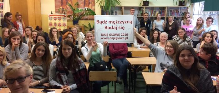 Prelekcja o profilaktyce raka jąder dla uczniów szkoły Cosinus /oddział ul.Drukarska/